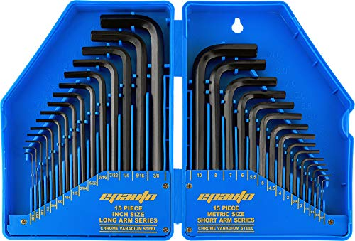 FINDER XJ193127P Allen Wrench Set Hex Key Set with Arm Ball End Set of 9 pieces Metric Extra Long