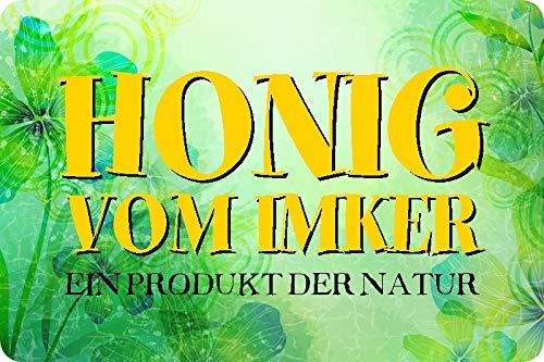 Metalen bord 30x20cm honing van Imker Een product van de natuur metalen bord