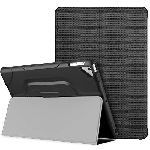 JETech Hülle für Apple iPad 7 (10,2 Zoll, Modell 2019, 7. Generation), Doppelfalzständer mit stoßsicherer TPU Rückseite, Auto Schlafen/Wachen, Schwarz