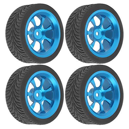 VGEBY Neumáticos de Coche RC, 4 Piezas de Llantas metálicas de Control Remoto con Adaptador Hexagonal para Coche Wltoys 144001 1/14 RC