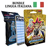 Andycards Starter Deck Maestri del Destino in Italiano - Mazzo Yugioh SS01 Speed Duel + Sleeves God-Player + Segnapunti