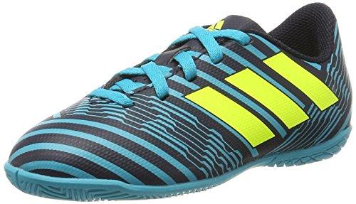 adidas Unisex-Kinder Nemeziz 17.4 in Fußballschuhe, Mehrfarbig (Legend Ink F17/solar Yellow/energy Blue S17), 28 EU