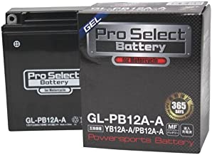 Pro Select Battery (プロセレクトバッテリー) GL-PB12A-A 【YB12A-A FB12A-A互換】 液入充電済MFジェルバッテリー 安心信頼業界最長2年保証付き 長持ち バイクバッテリー すぐ使えるメンテナンスフリー