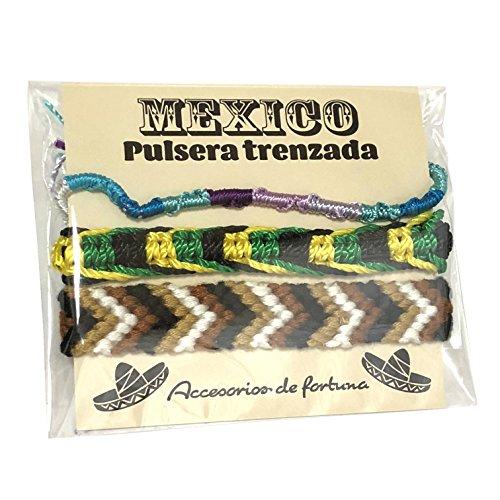 メキシコ製 ミサンガ 3本セット Mexico メキシカン エスニック 編み ブレスレット アソート 男女兼用 プロミスリング アンクレット (I)