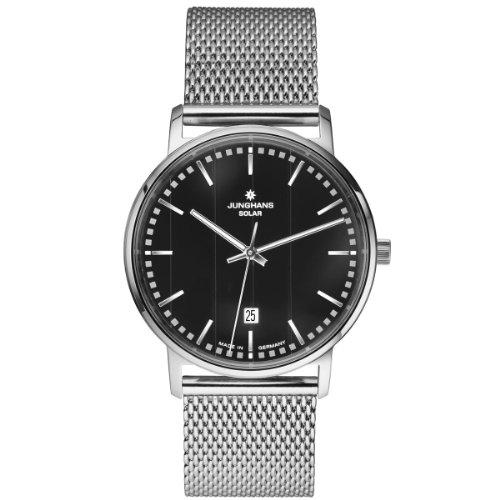 Junghans 014/4061.44 - Reloj analógico de Cuarzo para Hombre con Correa de Acero Inoxidable, Color Plateado