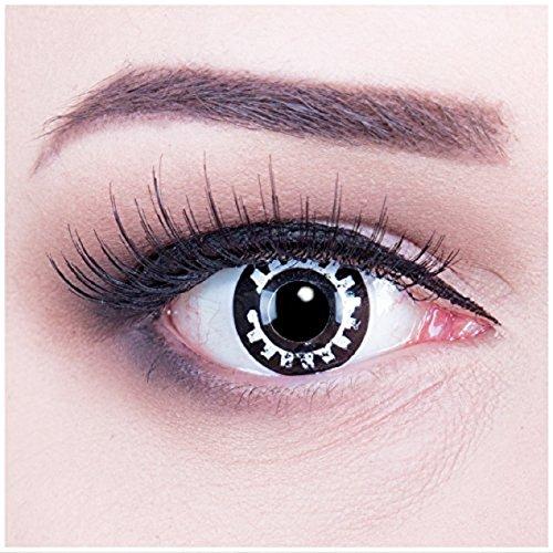 Funnylens 1 Paar farbige schwarze Crazy Cosplay steam punk Jahres Kontaktlinsen.Topqualität zu Fasching, Halloween und Karneval mit gratis Kontaktlinsenbehälter ohne Stärke!