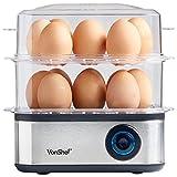 VonShef 3 in 1 Egg Boiler, Poacher and Omelette Maker, Extra Large Capacity