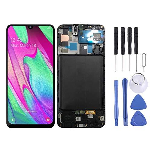 JHM-ES Pantalla LCD y Conjunto Completo de digitalizador con Marco para Galaxy A50 SMA505F Repuestos para Samsung Galaxy Celular (Color : Black)