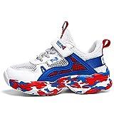 Fnho Casual Senderismo Calzado,Calzado de Running para Hombre,Zapatos de Red para niño, Zapatos Deportivos, Zapatos Huecos Transpirables para niños-Blue_39