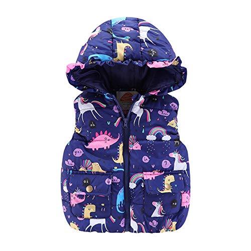 Kinder Mantel Westen Winter Warm Jacke Herbst Outwear Coat Winterjacke Daunenweste für Baby Mädchen