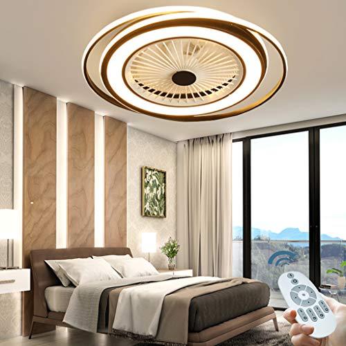 Deckenventilator mit Beleuchtung Fan Deckenventilator LED Licht Einstellbare Windgeschwindigkeit Dimmbar mit Fernbedienung Moderne led Deckenlampe für Schlafzimmer Wohnzimmer Esszimmer light