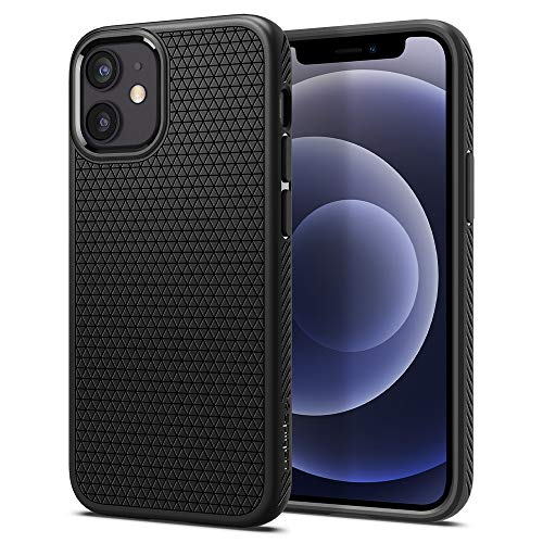 Spigen Liquid Air Armor Designed for iPhone 12 Mini Case (2020) - Matte Black