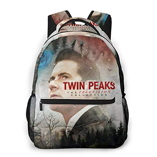 Lawenp Twin Peaks Men and Women's Fashion Casual Backpack Outdoor Travel Bag Messenger Bags Casual Durable Lightweight