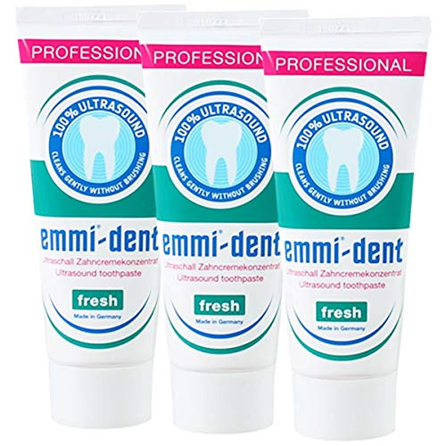 3x Emmi-dent Ultraschall Zahnpasta Fresh 75ml (3x 75ml Tube)