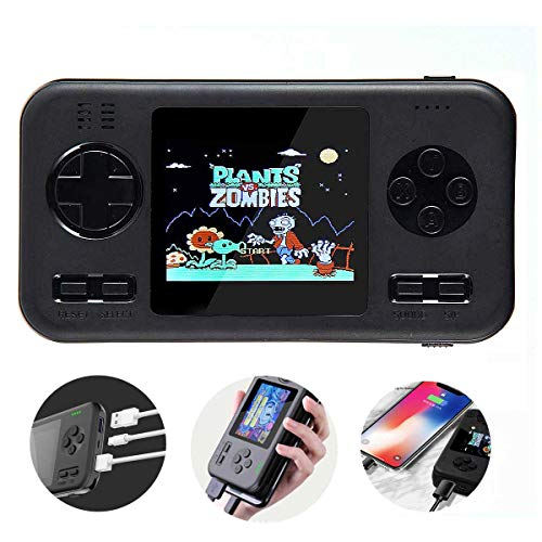 Dikkar Retro Game Handheld Console, FC PVP Gamboy Power Bank 8000mAh, Built-in 416 Small Games, 2.8 Inch Full Color Display, 2 Port 2.1A Fast Charge Portable Retro Video Game for Travel