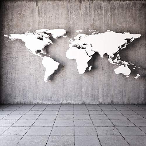 SQBZOP Benutzerdefinierte Vintage stereoskopische Weltkarte großes Wandbild 3D Wallpaper für Wand 3d Wallpaper europäischen Stil Wohnzimmer Sofa Hintergrund, 150cm * 105cm