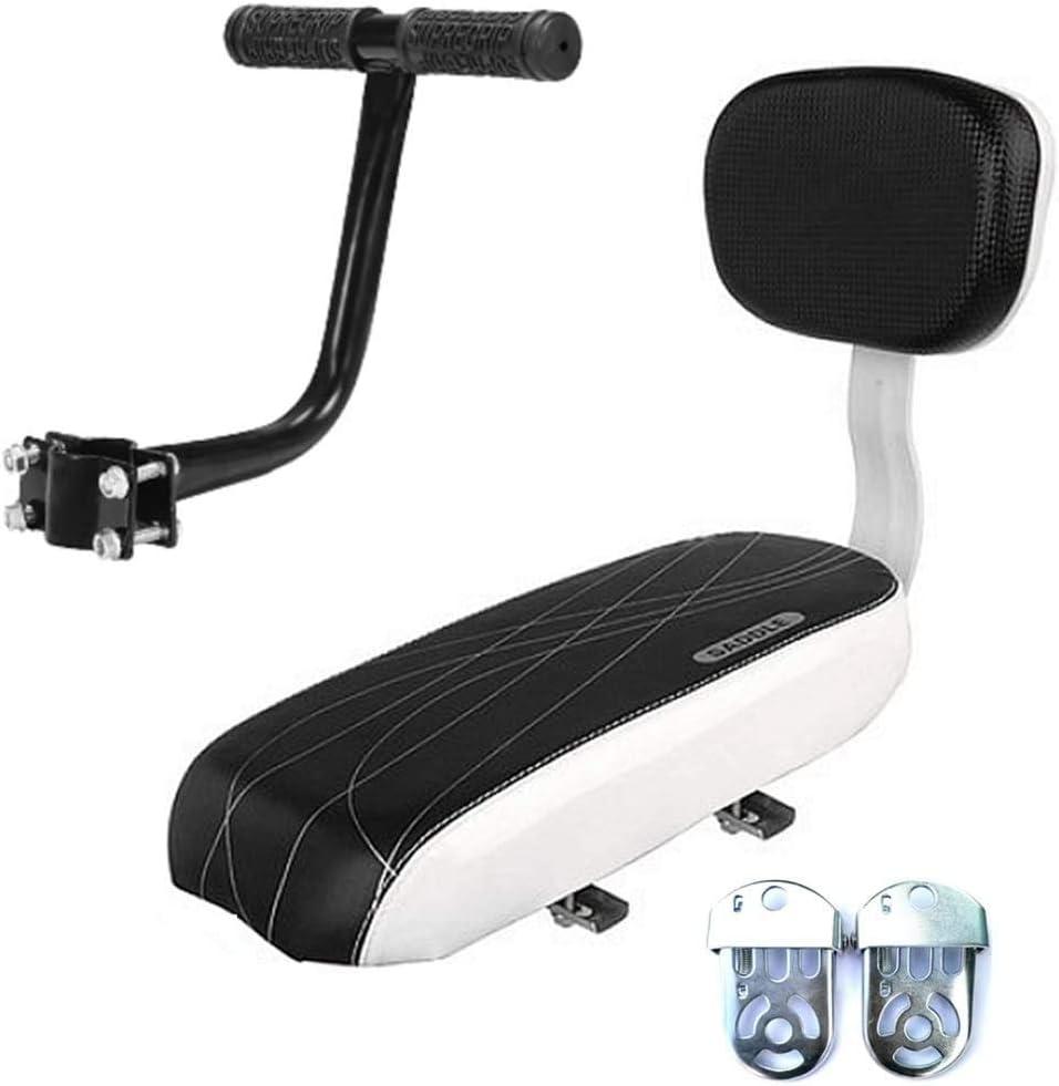 POCREATION Bicycle Back Rear Seat Cushion Backrest Armrest Footrest Set, Kid Child Carrier Bike Seat Cushion, PU Leather Safety Cushion with Backrest Armrest and Footrest