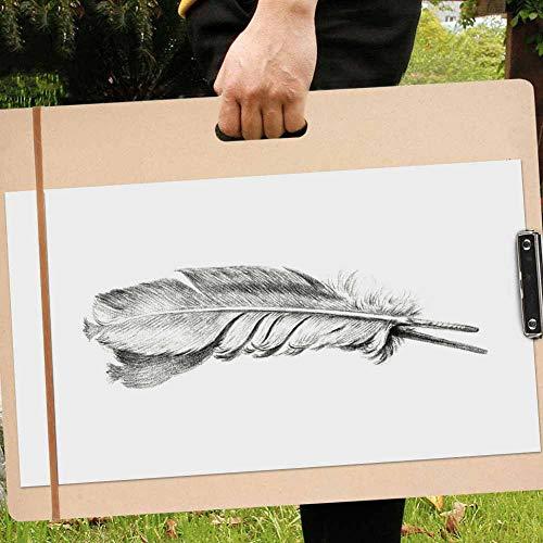 Jacksking Sketch Tote Board, tragbares Kunstholz Sketch Board A3 A4 8K Papier 45 × 60 cm Zeichenbrett für Schüler für Klassenzimmer/Studio/Feld