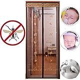 LHYAN Anti-Mosquitos Cortinas de Anti-Mosquitos de Verano de succión magnética partición ensimismamiento Pantallas Cortinas de Velcro Puertas Pantalla de Bordado...