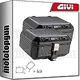 givi portamaletas lateral + maletas lateral trekker dolomiti dlm30bpack2 compatible con suzuki dl 1000 v-strom 2010 10