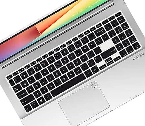 Superdünne Tastaturabdeckung für ASUS VivoBook S15 S533 S533FA, VivoBook 15 S513 F513 K513 X513 M513 Asus L510 Laptop – Schwarz