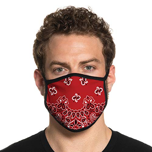 Secret Artist Bandana Face Mask with Ear Loops. Unisex Bandana Face Mask- Washable and Reversible. Bandana Mask Fits Medium to Large Faces. Bandana Face Masks for Work and School. Made in USA.