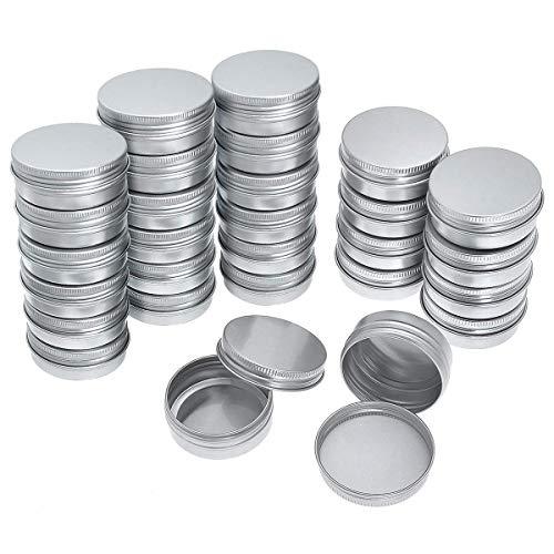 WANWE Paquete de 40 latas redondas de aluminio con tapa de rosca – Botella redonda de aluminio con tapa de rosca