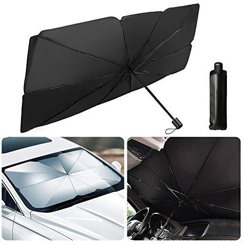 Auto Sonnenschirm,Auto Frontscheibe,Auto Sonnenschutz Frontscheibe,UV-Block Auto Sonnenschutz,Regenschirm Windschutzscheibe,Faltbarer Frontscheibe (145*79cm)