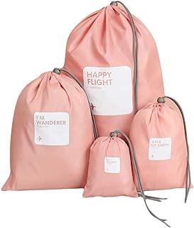 Becoler 4Pcs Bolsa de almacenamiento de viaje impermeable de nylon Inicio Cordón Organizar la bols