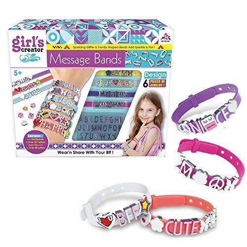 Queta Kit para Hacer Pulseras Niñas,6pcs Pulsera de Letras DIY,Kit de Fabricación...