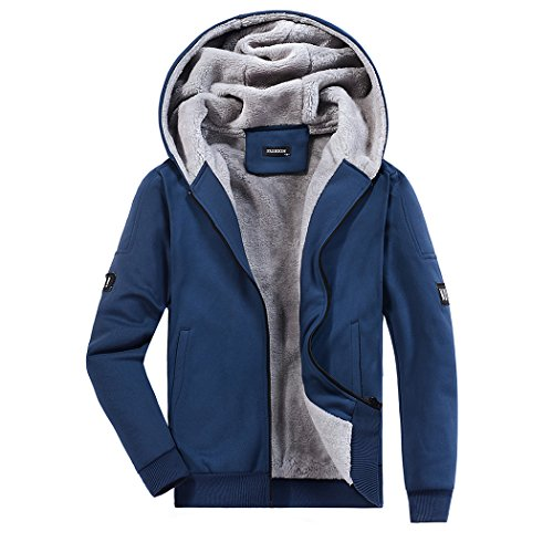 WALK-LEADER - Sweat-Shirt à Capuche - Homme - Bleu - Medium