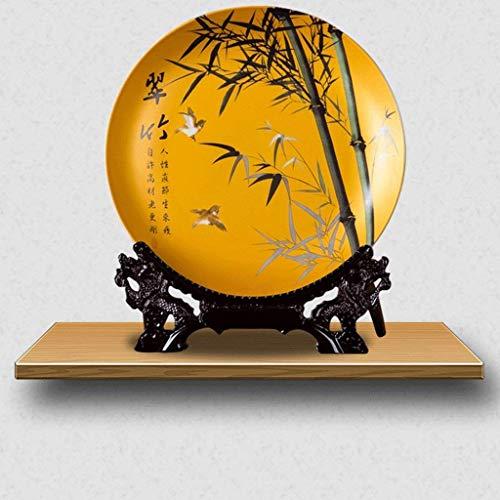 JXXDDQ Adornos de cerámica para el hogar, accesorios de escultura, placa decorativa en relieve artesanías de cerámica, soporte de TV de vino, sala de estar, manualidades, (patrón, F), E (color: F)