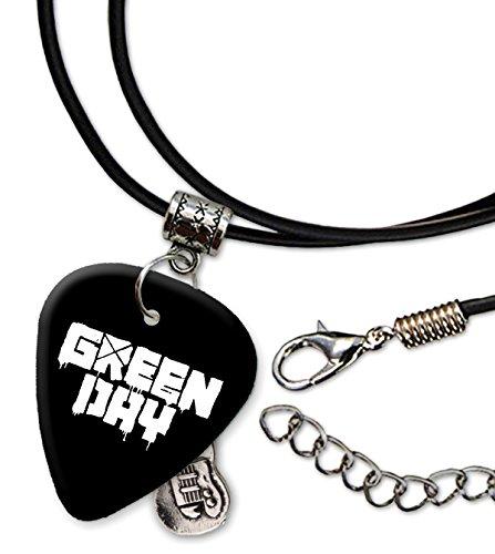Green Day Band Logo Collar de cordón de púa de guitarra (H)