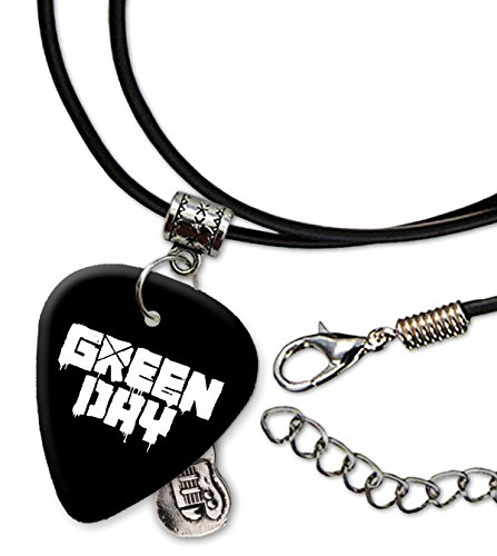Green Day Band Logo Collar de cordón de púa de guitarra (H)