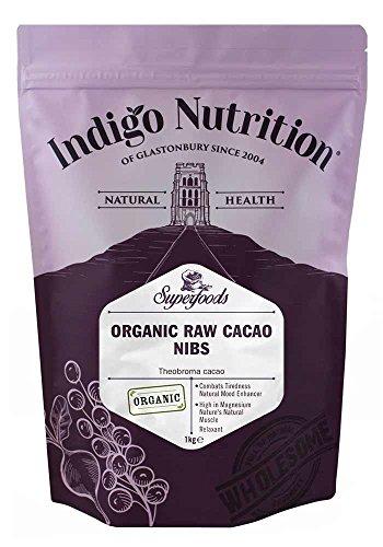 Indigo Herbs Rohe Bio Kakaonibs 1kg | Vegane | Rein & GMO Frei