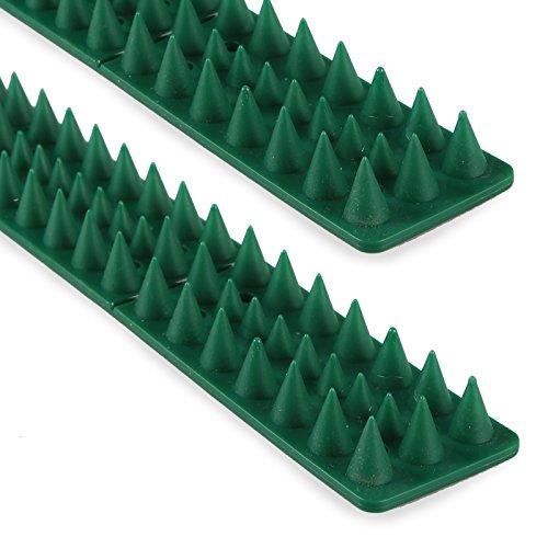 Vogelabwehr Taubenabwehr Katzen Spikes für Zäune & Mauern | Grün - 10 Stück