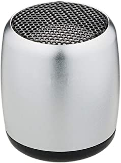 Mini Metal Wireless Bluetooth Speaker Outdoor Portable Subwoofer Creative Cannon TWS Sound Capacity 300mAh,Silver