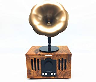 Retro Phonograph Bluetooth Speaker, Creative Electronic Gift Small Speaker Portable Speaker Bluetooth Audio,Rosewood