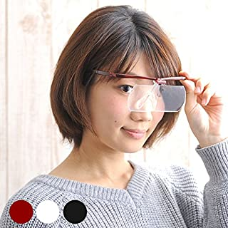 双眼メガネルーペ メガネタイプ 1.6倍 HF-60D※このページは「ワインレッド」のみの販売です◆ワインレッド