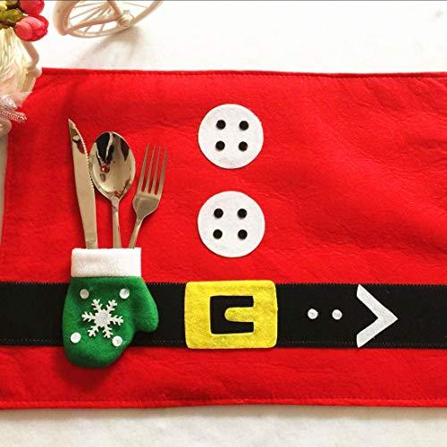 Boutique de Hanks Gant De Porte-Couverts Et Jolie Décorations De Noël Beau Costume Père Noël Décorations De Noël Napperons Luma