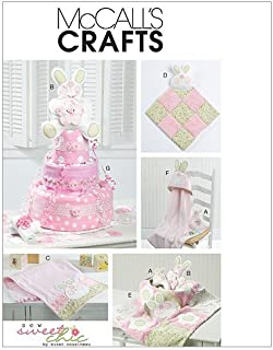 McCall's Patterns M6301 Toy, Decoration, Burp Cloth, Blankie, Blanket, Hooded Towel and Diaper Cake, One Size Only