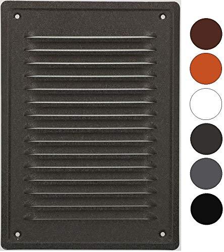 Rejilla de ventilación KOTARBAU 230 x 165 mm, enroscada, barnizada, para chimenea, color antracita, resistente a la corrosión