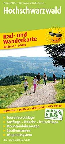 Hochschwarzwald: Rad- und Wanderkarte mit Ausflugszielen, Einkehr- & Freizeittipps, Mountainbikerouten, Straßennamen, wetterfest, reissfest, ... 1:50000 (Rad- und Wanderkarte / RuWK)