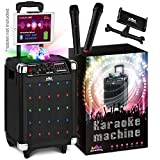 🎤 PERFECT PACKAGE – Be the karaoke king with our karaoke machine! The high-quality speaker doesn't make you sound like Michael, but it does make sure you're heard. Sing sweet solos and duets with TWO wireless microphones, while the dancing lights of ...
