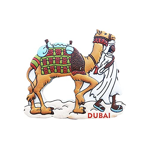 Dubai 3D Camel Nevera Imán Regalo de Recuerdo, Hecho a Mano Decoración Del Hogar Y Cocina Dubai Refrigerador Imán Colección