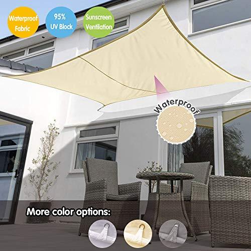 Sonnensegel Aufrollbar-Sonnen Segel,Grau/Beigeweiß/Beige,UV-Schutz Für Outdoor Garden Lawn Camping Party,Windschutz,Sonnenschutz Balkon
