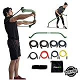 Gorilla Bow Portable Home Gym Resistance Band System, Weightlifting and HIIT Interval Training Kit,...