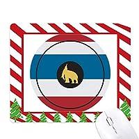 タイタイエレファントシールドで作られます ゴムクリスマスキャンディマウスパッド