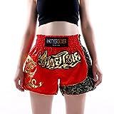 BKX Pantalones Cortos de Lucha para Mujer, UFC Unlimited Ultimate Mixed Fighting Octagonal Cage MMA Muay Thai Taekwondo Sanda Karate Pantalones Cortos de catenaria para S