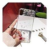 Transparente Bling Glitter Stars Circle cubierta suave para Samsung S20 S10 S9 S8 Plus S7edge Note 20 8 9 10 pro Case-1-para Galaxy S20ultra